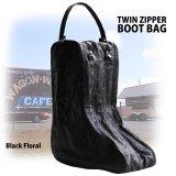 ブーツ バッグ(フローラル・ブラック)/Floral Boot Bag(Black)