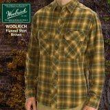 ウールリッチ フランネル シャツ ブラウン(長袖)S/Woolrich Long Sleeve Flannel Shirt(Brown)