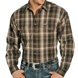 パンハンドルスリム ブラッシュドコットン ウエスタン シャツ(ブラウン)/Panhandle Slim Western Shirt(Brown)