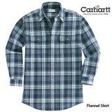 カーハート ヘビーウエイト フランネル シャツ ネイビー L(身幅64cm)XL(身幅67cm)/Carhartt Heavyweight Flannel Shirt(Navy)
