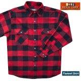 フランネル シャツ(レッド・ブラック 長袖)M(身幅58cm)L(身幅63cm)/Flannel Shirt(Rob Roy Red Plaid)
