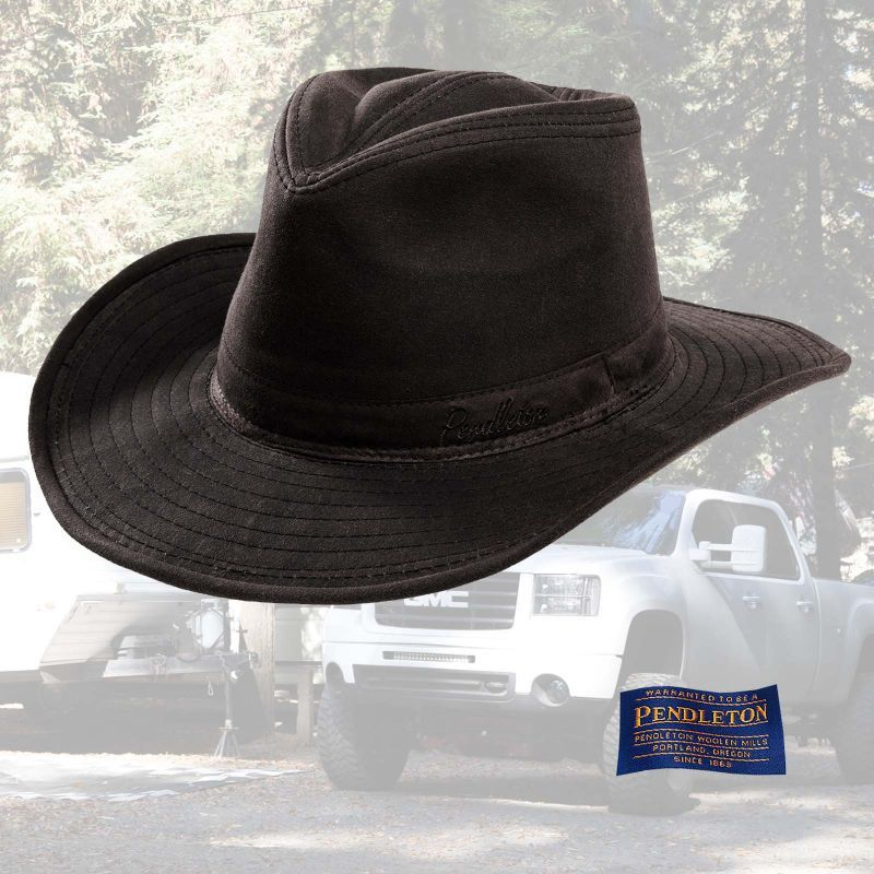 f064707090083 ペンドルトン ワックスコットン アウトバック ハット(ブラウン)XL Pendleton Waxed Cotton Outback Hat(Brown)   PPHA88
